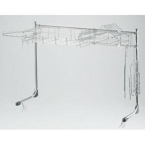キッチンをすっきり、機能的に使える「シンク上収納ラック」スライド式(耐荷重5kg)の写真