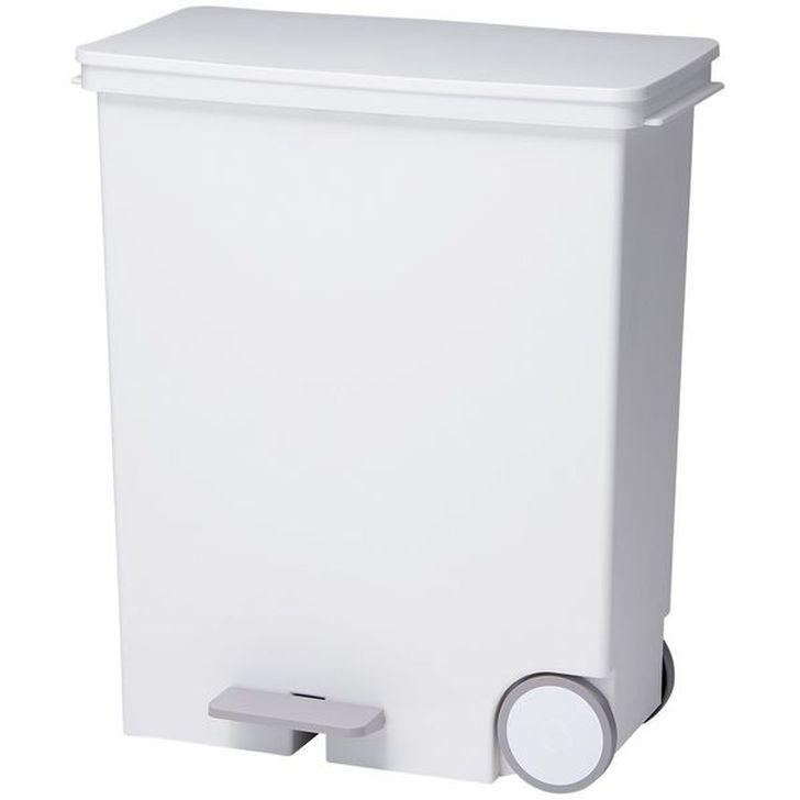 Like-it ゴミ箱オルア33 ワイドヨコ型分別ペダルペール ホワイト LBD-12の写真