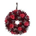 カルチベーター/レッドパープル木花のリースS/052855 インテリア雑貨 インテリア リース カルチベーター