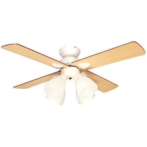 プラスモア シーリングファン ウィンダブル(4ライツ) ホワイト BIG-101-WH(1台)の写真