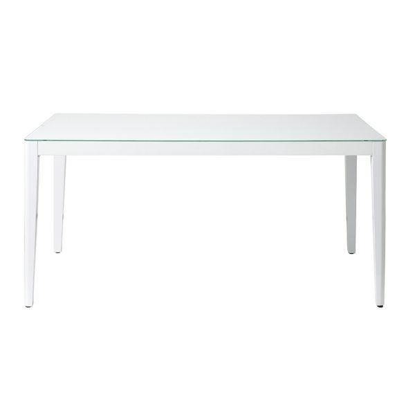 あずま工芸 ダイニングテーブル ガラス天板 gdt-7681 ホワイト