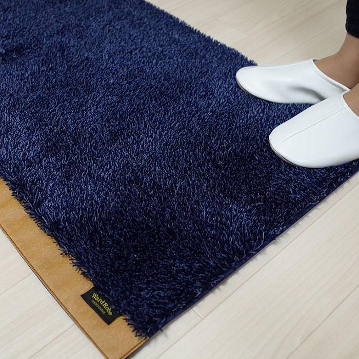 洗える キッチンマットcalmlandカームランド濃紺 ward robeワードローブ   twr-3353の写真
