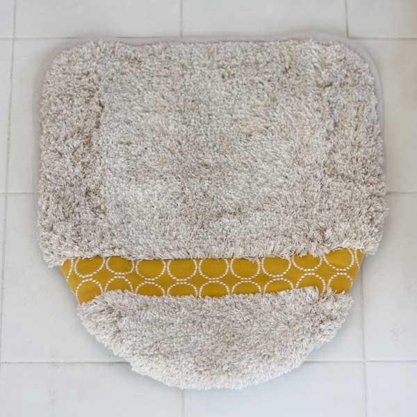 calmlandカームランドクラフト トイレ 北欧イエロー 洗浄暖房用 フタカバー 標準/大型