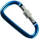 基陽 アルミカラビナ 8mm D環付 ブルー 85A-2