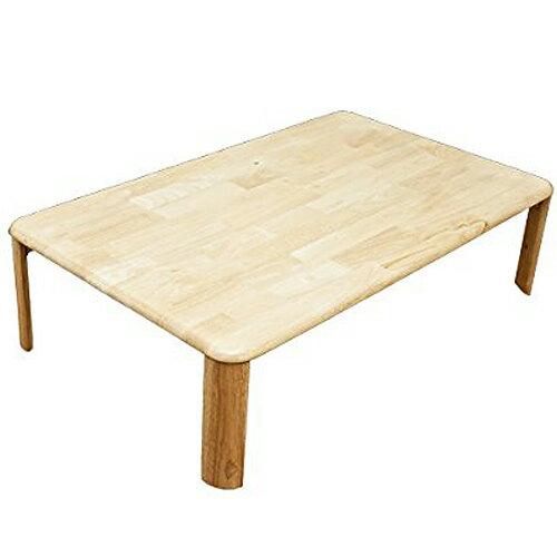NEWウッディテーブル 天然木製折りたたみローテーブル120cm×75cm ナチュラルの写真