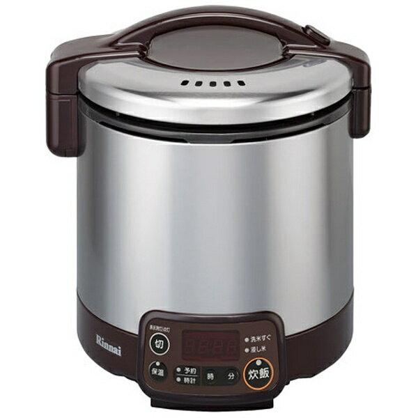 リンナイ タイマー電子ジャーガス炊飯器 5合都市ガス ダークブラウンRR-050VMT(DB)13A(1台)の写真
