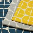 生地 綿麻混生地LE DEPART 4分の1 綿麻キャンバスプリント 148-1805A1m単位の切売り布コットンリネン北欧ナチュラルルデパールかたち画像
