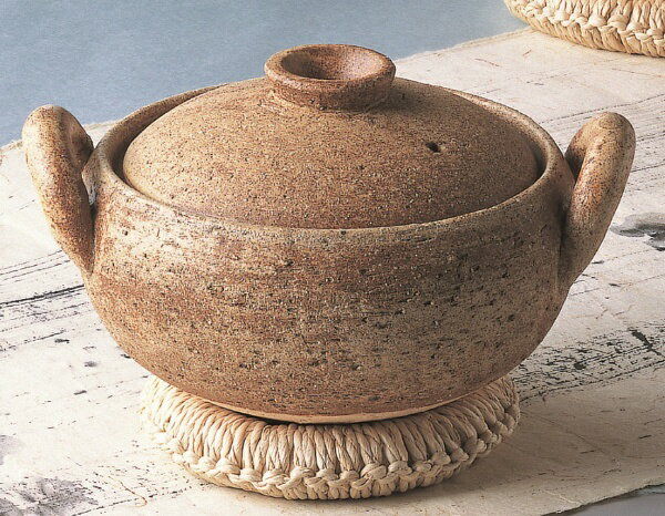 永谷製陶 長谷園 みそ汁鍋 小 なべ敷付の写真