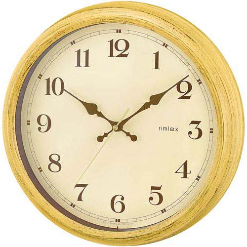 NOA 電波掛け時計エアリアルレトロ イエロー W-571の写真