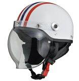 イヤーカバーとシールド付バイク用クラシックハーフヘルメット サイズ57-60cm