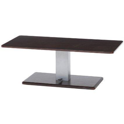 不二貿易 昇降テーブル 幅  高さ42.5-  ブラウン シルバー 10498の写真
