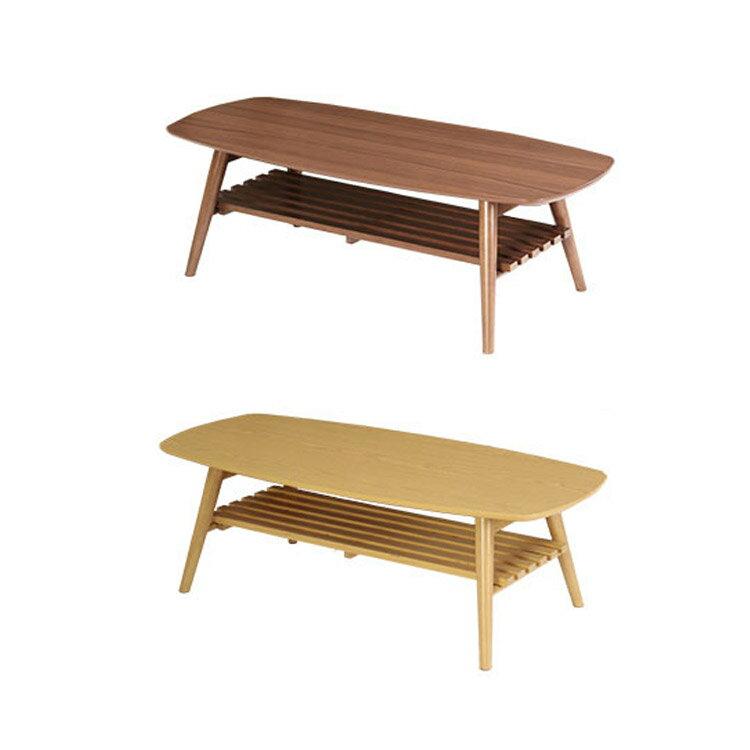 折りたたみテーブル ノチェロ NOCELLO 棚幅110cm 机 テーブル 折りたたみの写真