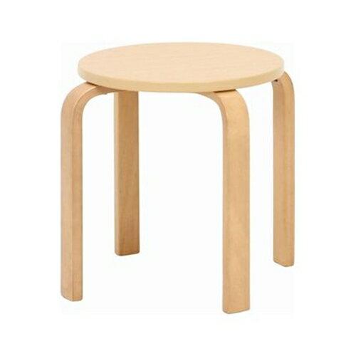 不二貿易 木製曲脚椅子(イス) ナチュラルの写真