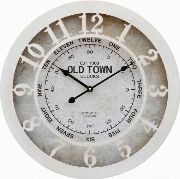 不二貿易 ウォールクロック old town 直径  20717の写真