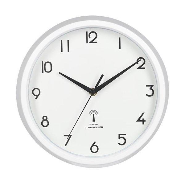 27268 不二貿易 電波掛け時計 カペラ ホワイトの写真