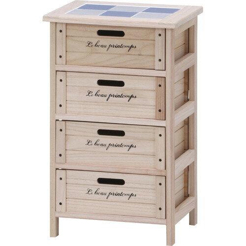 不二 木製4段ボックス HF05-003Nの写真