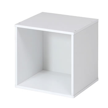 キューブボックス ホワイト cb35op wh の写真