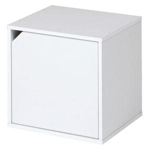 FBC/不二貿易 キューブボックス 扉付 ホワイト CB35DR WH 81907の写真