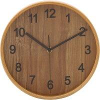 不二貿易 プライウッド 掛け時計 直径  ナチュラル 85358の写真