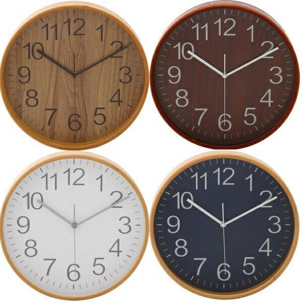 不二貿易 曲木時計 Φ28cm NA 色:ナチュラルの写真