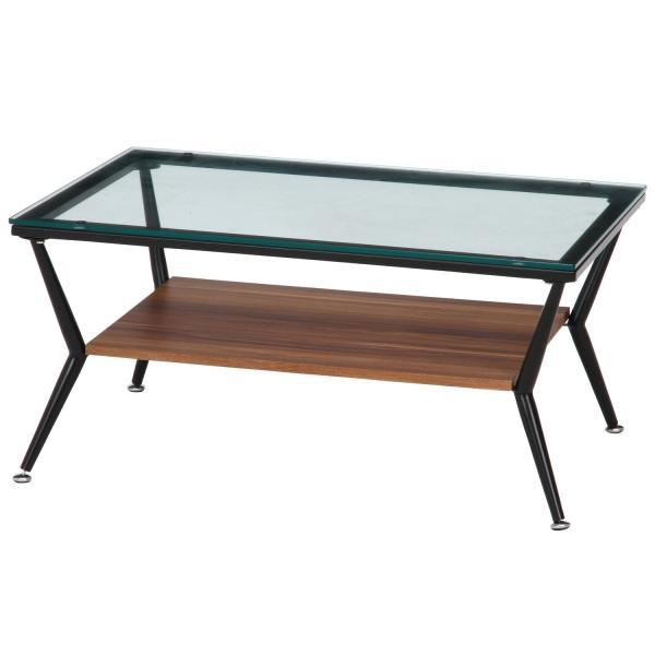 不二貿易 (ガラステーブル センターテーブル)ガラスリビングテーブル クレア