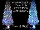 クリスマスツリーに最適!高輝度LEDファイバーツリー 【グリーン、高さ180cm】