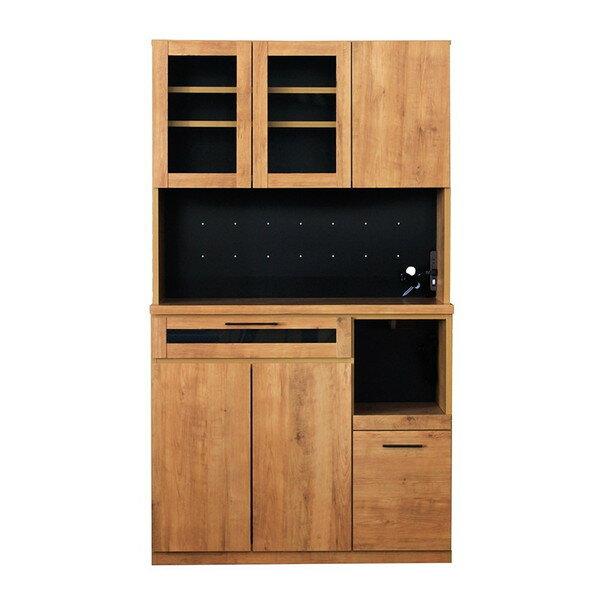 食器棚 スライド棚 105キッチンボード カップボードの写真