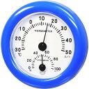 クレセル スタンダード 温度計・湿度計 壁掛け・卓上両用 CR-103B ブルー