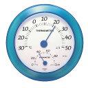 クレセル 温度計・湿度計 壁掛け用 CR-223B ブルー