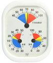 クレセル 不快指数計・温度計・湿度計 壁掛け・卓上両用 CF-431