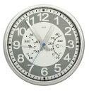 CRECER 時計付温湿度計 シルバー TC-018S