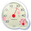 クレセル ripple(リップル) 温度計・湿度計 壁掛け・卓上両用 CR-140Y イエロー