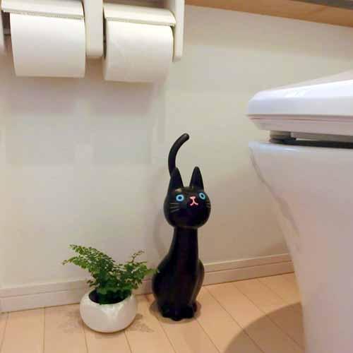 ねこのトイレブラシ クロ