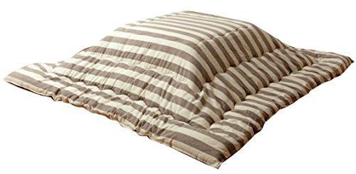 イケヒコ・コーポレーション インド綿 こたつ布団 正方形 ロカ ベージュ 約205×205cm