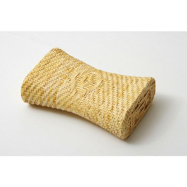 イケヒコ・コーポレーション IKEHIKO 枕 まくら 籐枕 籐まくら ピロー 通気性抜群 蒸れない 籐無地枕 約30×19cmの写真