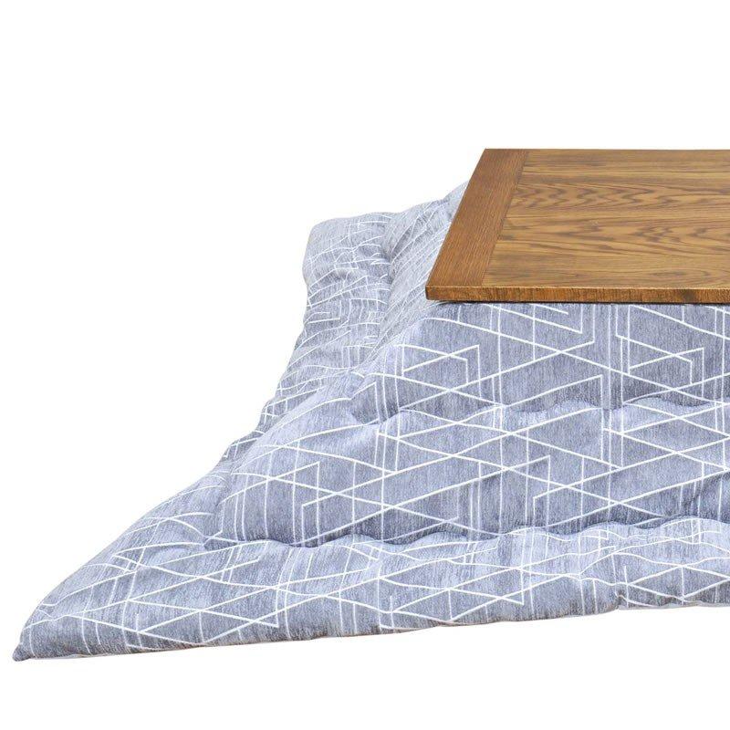 こたつ布団 正方形  ラハティ こたつ掛け布団単 サイズ:約 カラー:グレー、ネイビーm&c5 こたつ掛布団 薄掛け 北欧 ビンテージの写真