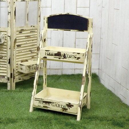 ウエキオリジナル/SHWM-1402 二段箱棚/234214 ガーデニング用品 プランター 木製の写真