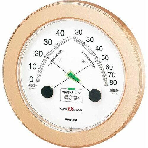 エンペックス スーパーEX高品質温・湿度計 シャンパンゴールド EX-2738(1コ入)の写真