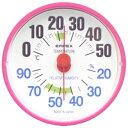 エンペックス温湿度計 ルシード BC3655 ピンク BC3655