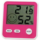 エンペックス おうちルーム デジタルミディ温湿度計 チェリーピンク TD-8415
