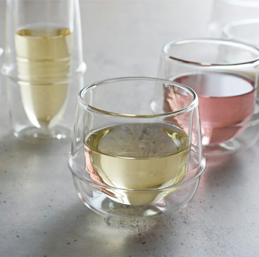 キントー ダブルウォール ワイングラス KRONOS 23108の写真
