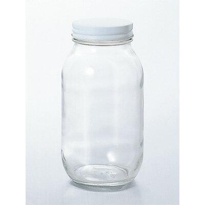 石塚硝子 白キャップ保存瓶925CCの写真