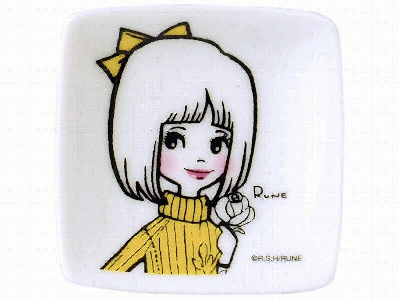 RUNE-Girl プチ角小皿(イエロー)