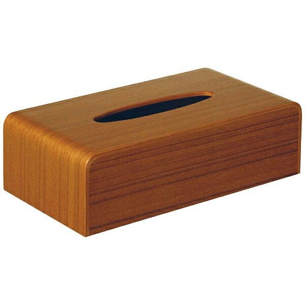 サイトーウッド 木製ティッシュボックス チーク TS-03T VTI2901の写真