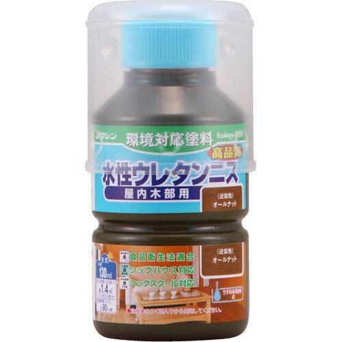 日本ペイント W水性ウレタンニス オールナット 130ml スイセイウレタンニス130ML