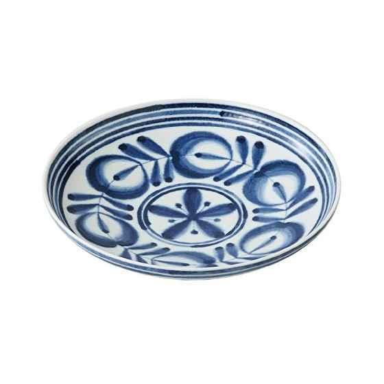西海陶器 モダンブルー プレート L 73508の写真