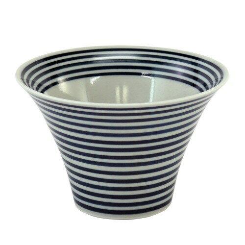 波佐見焼 いれこ碗 中 藍駒 直径  hama-nbm-aikm