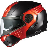 OGK KAZAMI フラットブラック/オレンジ S