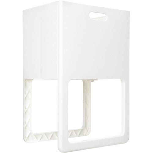 折りたたみ&脚付バスケット アコット ホワイト(1台)