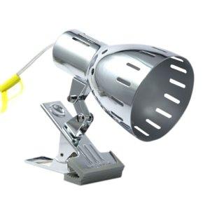 クリップライトクローム E26 電球なし CLX605CH(1台)の写真